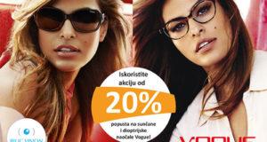 Ne propustite 20% popusta na Vogue dioptrijske i sunčane naočale