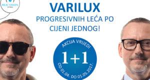 AKCIJA VARILUX 1+ 1GRATIS